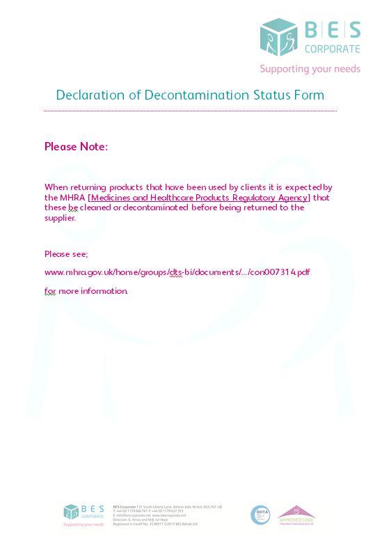 Decontamination Form